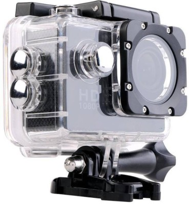 Benison India ™Full HD 12MP 1080P Black Helmet Waterproof Cam Holder Sports   Action Camera Black