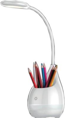 JAINONE 4 IN 1 LED TOUCH LAMP/EMERGENCY LIGHT/PEN STAND/PLANT POT Table Lamp(54, White)