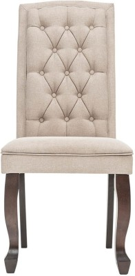 Durian JAYDEN Solid Wood Dining Chair(Set of 1, Finish Color - Beige)