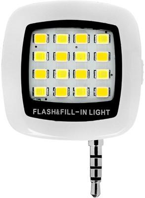 Mobone Universal 3.5mm Jack Mini 16 LED Selfie Camera, Fill in Light for Mobile Cell Flash Flash(White)