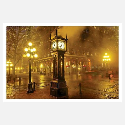 CRAZYINK(Night Big CLock)WALL POSTER (12 * 18) INCH Paper Print(12 inch X 18 inch)  available at flipkart for Rs.169
