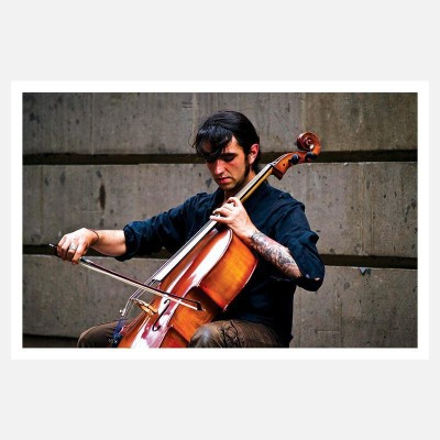 CRAZYINK(VIOLIN PLAYER)WALL POSTER (12 * 18) INCH Paper Print(12 inch X 18 inch)  available at flipkart for Rs.169
