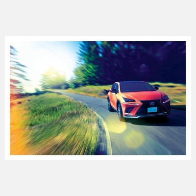 CRAZYINK(SPORTS CAR BOOKEH EFFECT)WALL POSTER (12 * 18) INCH Paper Print(12 inch X 18 inch)  available at flipkart for Rs.169