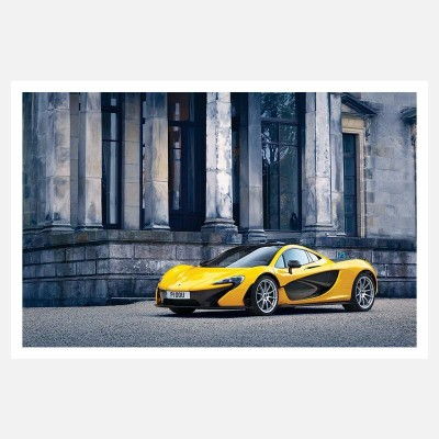 CRAZYINK(YELLOW SPORTS CAR)WALL POSTER (12 * 18) INCH Paper Print(12 inch X 18 inch)  available at flipkart for Rs.169