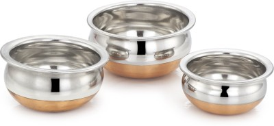 jaipurwala copper handi set of 3 Handi 0.5 L, 1 L, 1.5 L(Copper)  available at flipkart for Rs.599