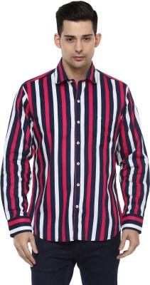 LOBSTER Men's Striped Casual Multicolor Shirt