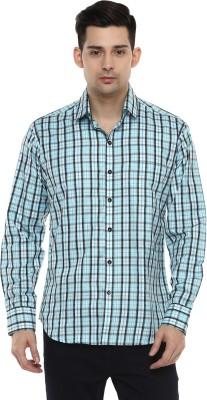 LOBSTER Men's Checkered Casual Blue Shirt