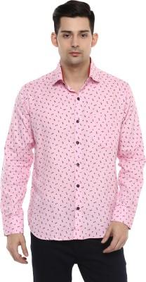 LOBSTER Men's Printed Casual Pink Shirt