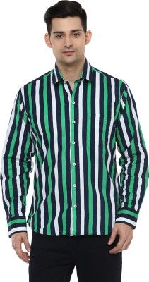 LOBSTER Men's Solid Casual Green Shirt