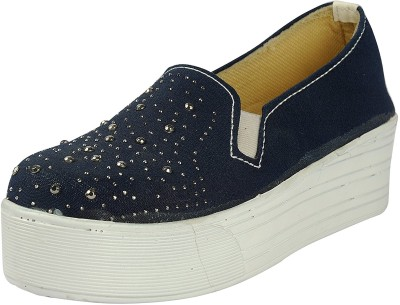 Belly Ballot Loafers For Women(Blue)