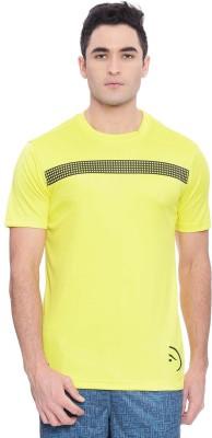 c8c45281ac0cc Piranha Solid Men s Round Neck Yellow T-Shirt
