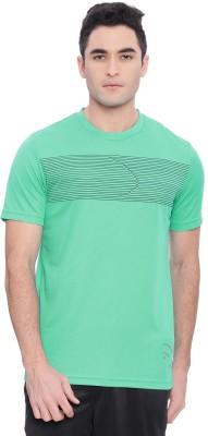 254aba43c1c2d Piranha Solid Men s Round Neck Green T-Shirt
