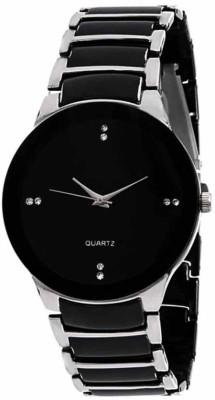 SIMONE ENTERPRISE IIK Collection SILVER BALCK Analog Watch   For Men SIMONE ENTERPRISE Wrist Watches