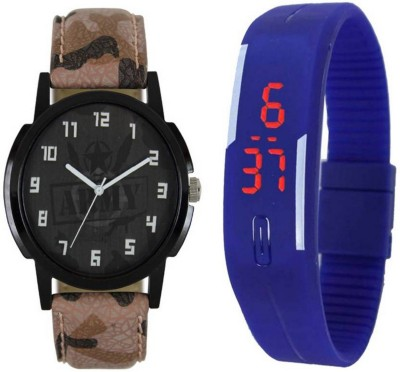 Frolik 49 Latest Analogue And Blue Attractive Digital Led Kids And Men Watch  - For Boys