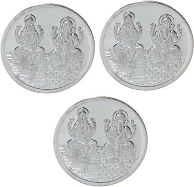 Kataria Jewellers Lakshmi Ganesh S 999 5 g Silver Coin Pack of 3 Kataria Jewellers Coins   Bars