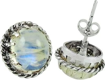YugshaJewels Elegant YJE-1063 Moonstone Sterling Silver Stud Earring