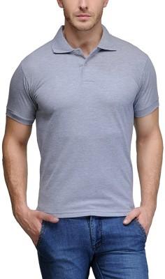 TNX Solid Men's Polo Neck Grey T-Shirt