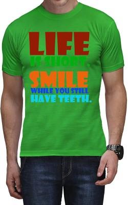 Casotec Printed Men's Round Neck Green T-Shirt
