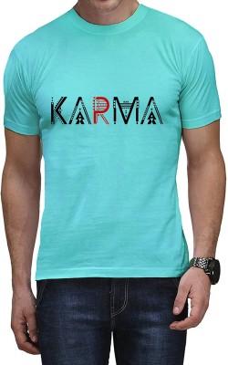 Casotec Printed Men's Round Neck Blue T-Shirt