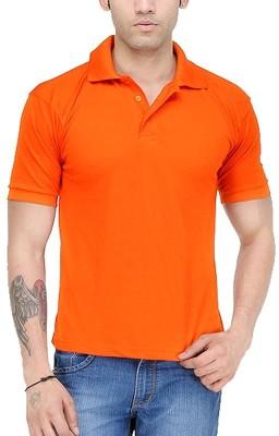TNX Solid Men's Polo Neck Orange T-Shirt