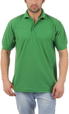 TNX Solid Men's Polo Neck Green T-Shirt