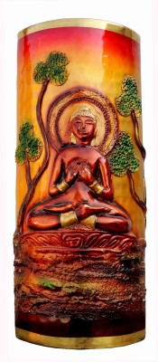 Brass Gift Center Brass Flower pot with budha design Brass Vase(12 inch, Multicolor)  available at flipkart for Rs.3999