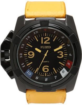Fluid FL-152-BK-YL  Analog Watch For Men