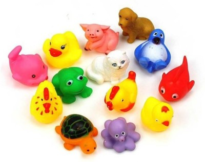 Creative Kids 12 Pcs. Colourful Bath Toys (Premium Soft Bath Toys For Baby)- Bath Toy(Multicolor)