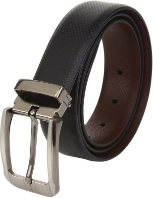 jss exports Men Formal, Party, Evening, Casual Black, Brown Artificial Leather Reversible Belt