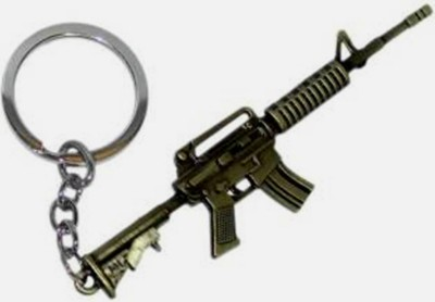 SALEBOX SB AK 47 Locking Key Chain(Gold, Silver)  available at flipkart for Rs.166