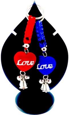 ShopTop Valentine Couple Keychain ( Red & Blue) Key Chain