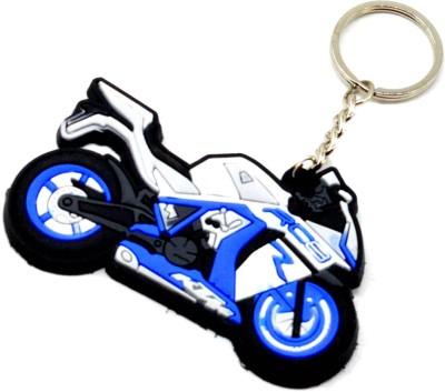 Faynci Premium Quality Silicone KTM RC8 Blue White Bike Shape Logo Key Chain for Bike Lover Key Chain  available at flipkart for Rs.164