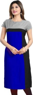 PAVITRA Women Self Design Straight Kurta(Blue)