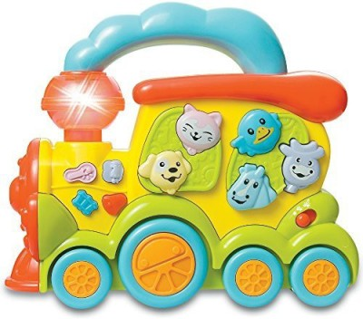 fun wee Tren De Juguete Electrico Musical Infantil Y Bilingue Con Luces, Colores Y Sonidos Para Bebes E Infantes - Juguetes Interactivos(Multicolor)  available at flipkart for Rs.3940