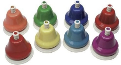 Playkids Kidsplay Diatonic 8-Note Handbell Set(Multicolor)