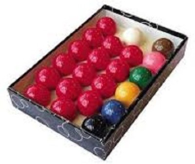 KBA Snooker Table Ball Set 2.1/16'' (Per Ball) Billiard Ball(Pack of 22, Multicolor)