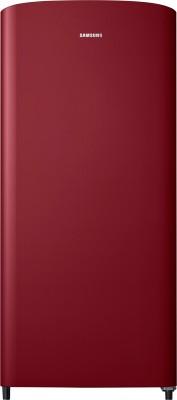 Samsung 192 L Direct Cool Single Door 1 Star Refrigerator(Scarlet Red, RR19M10C1RH/HL)