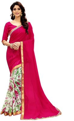 9035e87450 View Radhika Saree Printed Fashion Georgette Saree(Pink) Price Online