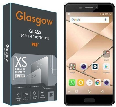 CHAMBU Tempered Glass Guard for Micromax Canvas Duet 2
