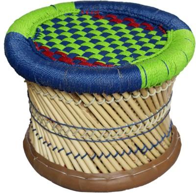 Oren Empower Multipurpose Handmade Traditional CUM Modern Unbreakable Canewood bar stool Living & Bedroom Stool(Multicolor)