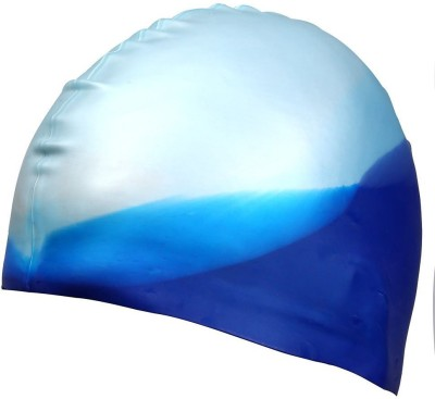 Xerobic Silicone Swimming Cap Basic Design, Odorless, Non-Toxic, Elastic and Durable Swimming Cap for Adults and Children Keep Hair Clean and Dry Swimming Cap(Multicolor, Pack of 1)