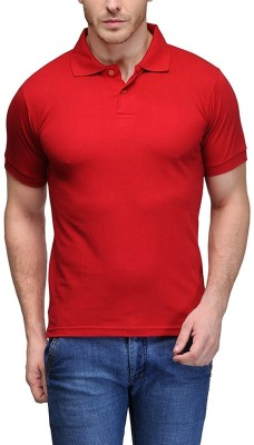 TNX Solid Men's Polo Neck Red T-Shirt