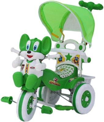 Babyjoys Baby Tricycle with Parental Control, Green Baby Tricycle with Parental Control, Green Tricycle(Green)