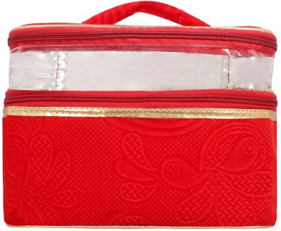 Roshiaaz Multipurpose Canvas Zipper pouch   Travel case   Stationery pouch   Money pouch Wallet   Makeup Kit   Jewellery Organizer   Vanity Bag For Traveling (Multicolor)   Toilet Kit Handbag Organizer  Medicine Bag   Best for Girls , Women   Gift your loved one Organizer bag Vanity Box(Red Color)  available at flipkart for Rs.299