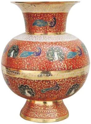 Brass Gift Center Flower pot in Jar shape with Handwork Brass Vase(8.3 inch, Multicolor)  available at flipkart for Rs.2999