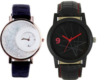 MAPA STYLE Attractive Stylish Black Mxre & Lorem Genium Black Leather Strap 2 Combo Girls & Boys Analog Watch MPSTYLE 081 Hybrid Watch  - For Men & Women