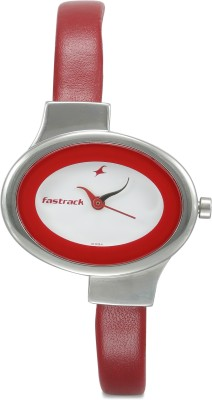 Fastrack NG6015SL01 Economy Analog White Dial Women's Watch