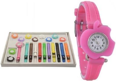 peter india apple shape multicolor 11 belt watch for girls ( women ) Watch  - For Girls