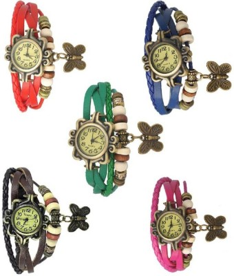 Rage Enterprise New L attest Collection Multi Color Set Of 5 Combo Women Watch  - For Girls