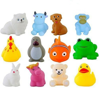 ODDEVEN Baby Swimming 12 Pcs Sounding Bath Toy Bath Toy(Multicolor)